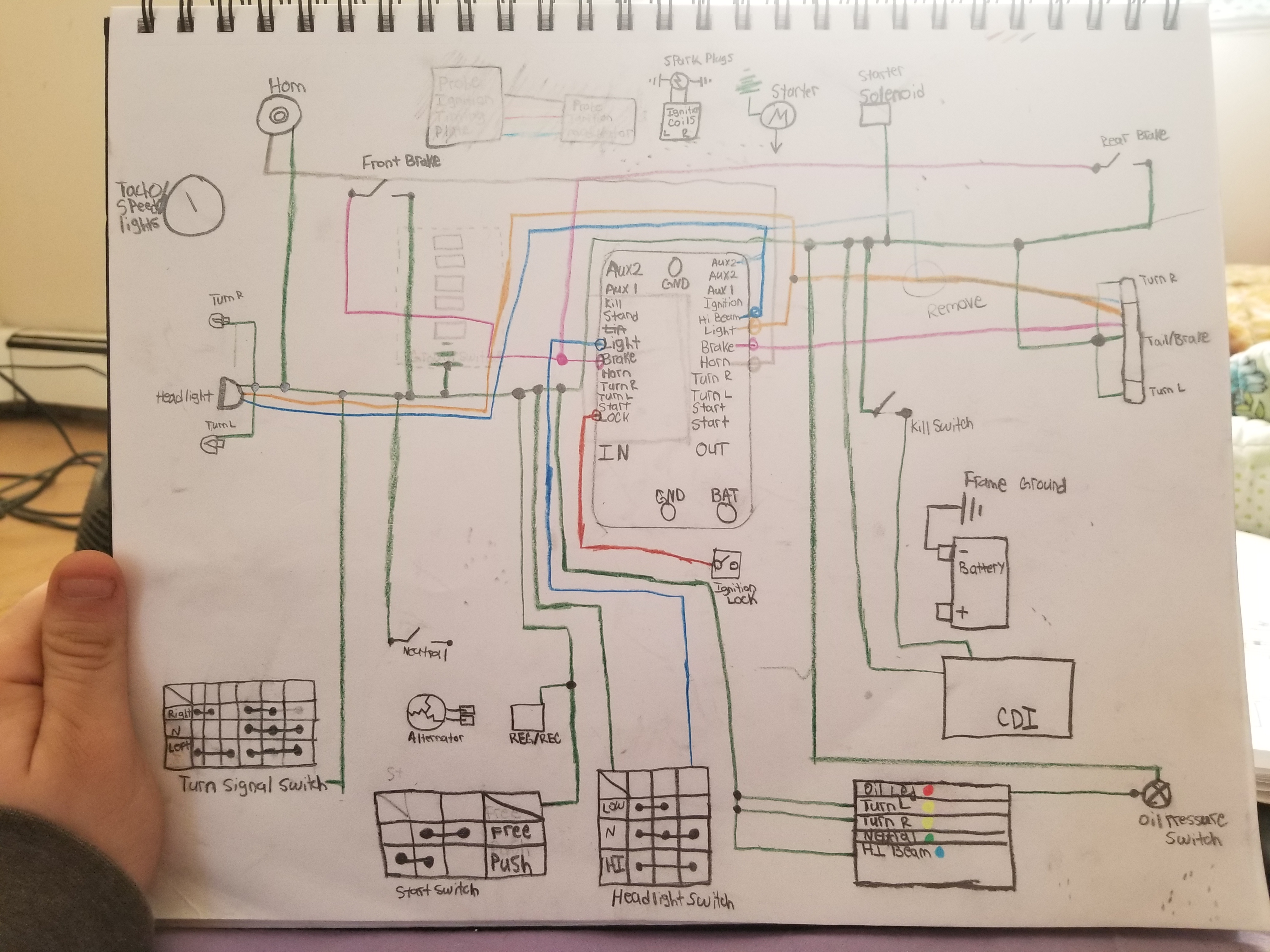 Cx500 Wiring Diagram Schematics Gl500 M Unit Blue Help 2004 International 4300 Dt466