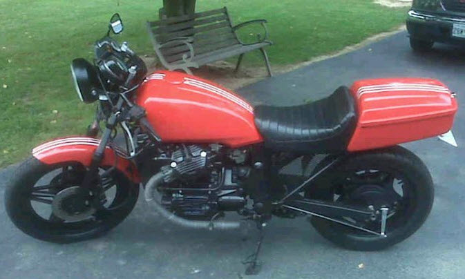 GL500 Silverwing to Cafe Racer