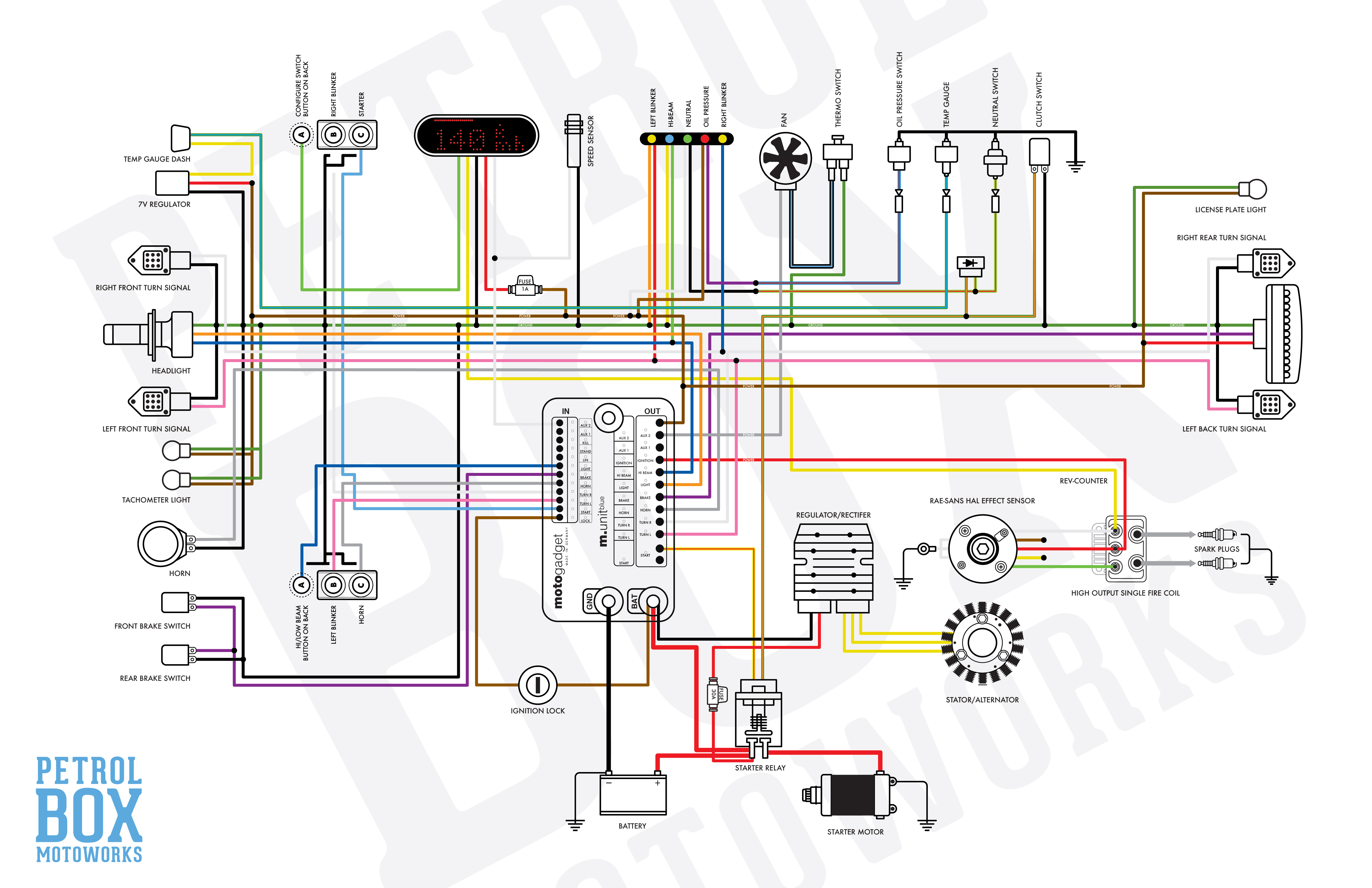 M-Unit wiring diagram for CDI 1980 CX500 | Honda CX 500 Forum | 1980 5 Wire Cdi Diagram |  | CX500 Forum