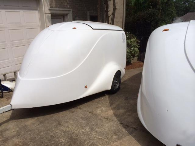 Excalibur enclosed motorcycle trailer
