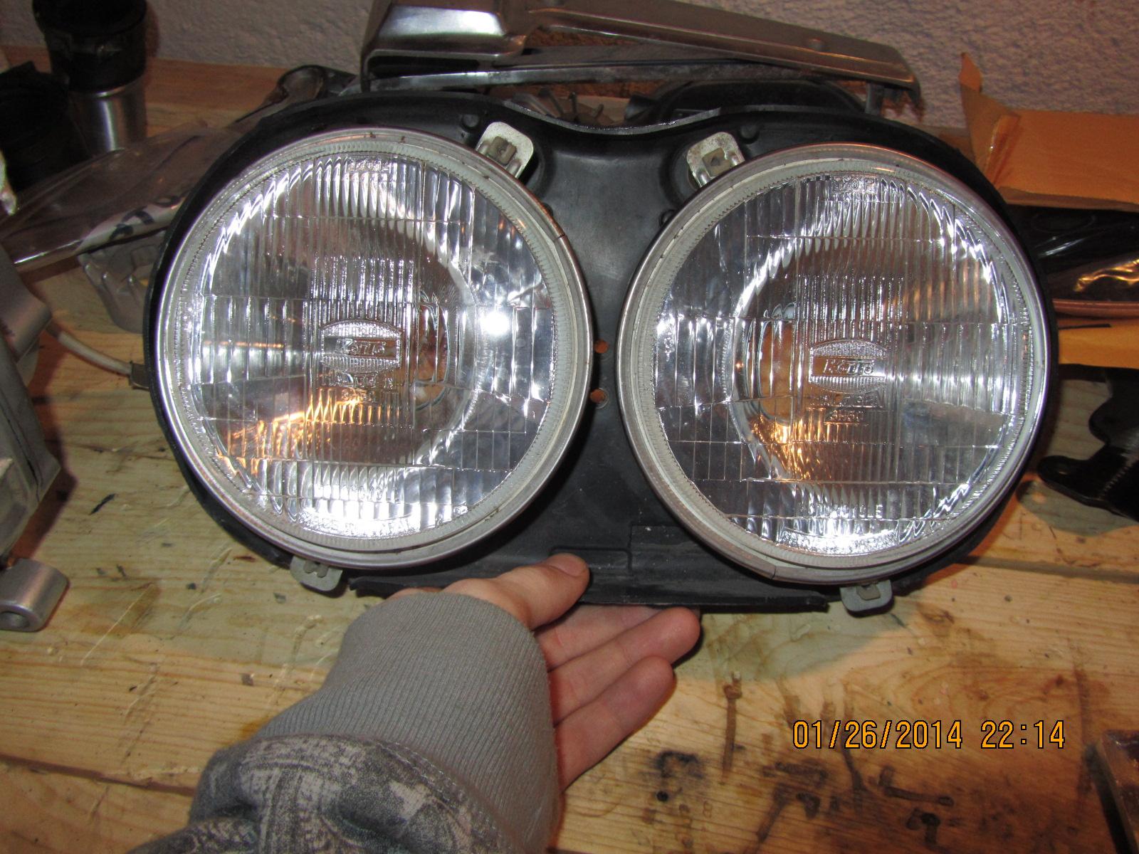 headlamp options cafe racer