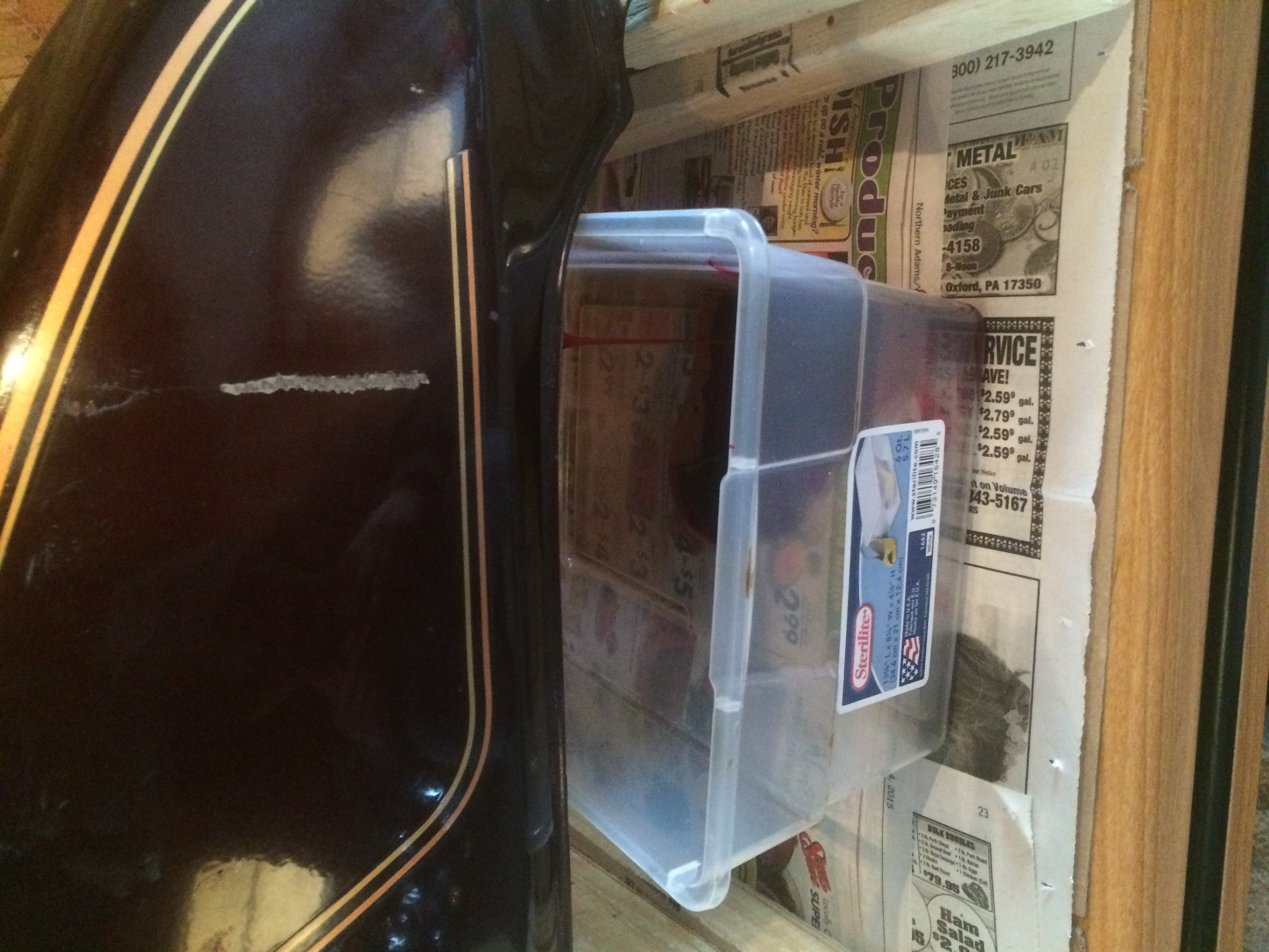 Rusty Gas tank clean and tank Lined with Red kote  Basic how to